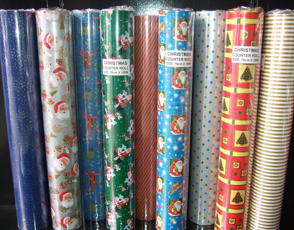 gift packaging Printed Gift wrapping paper for bouquets jumbo roll