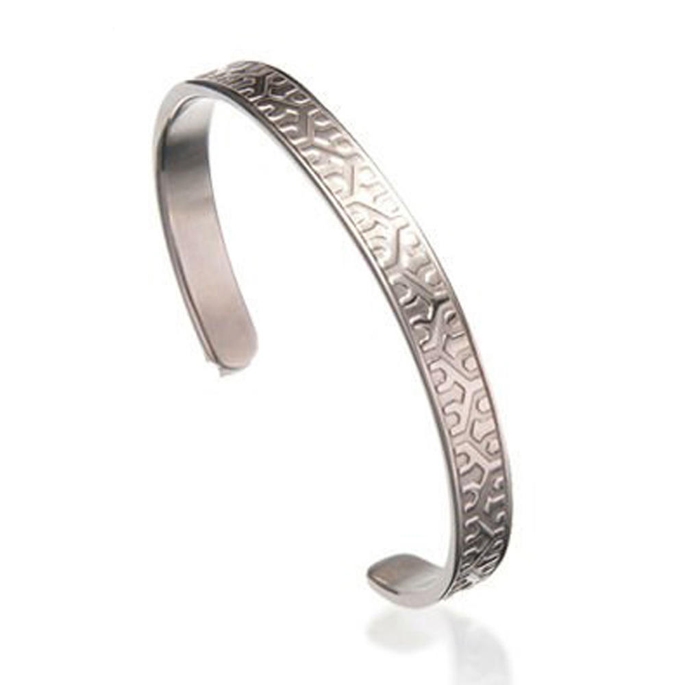 Neat Shiny Wholesale Stainless Steel Plain Cuff Bracelet