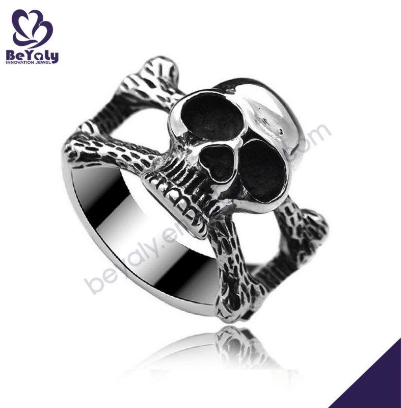 2019 new arrival skull design titanium catholic rosary rings