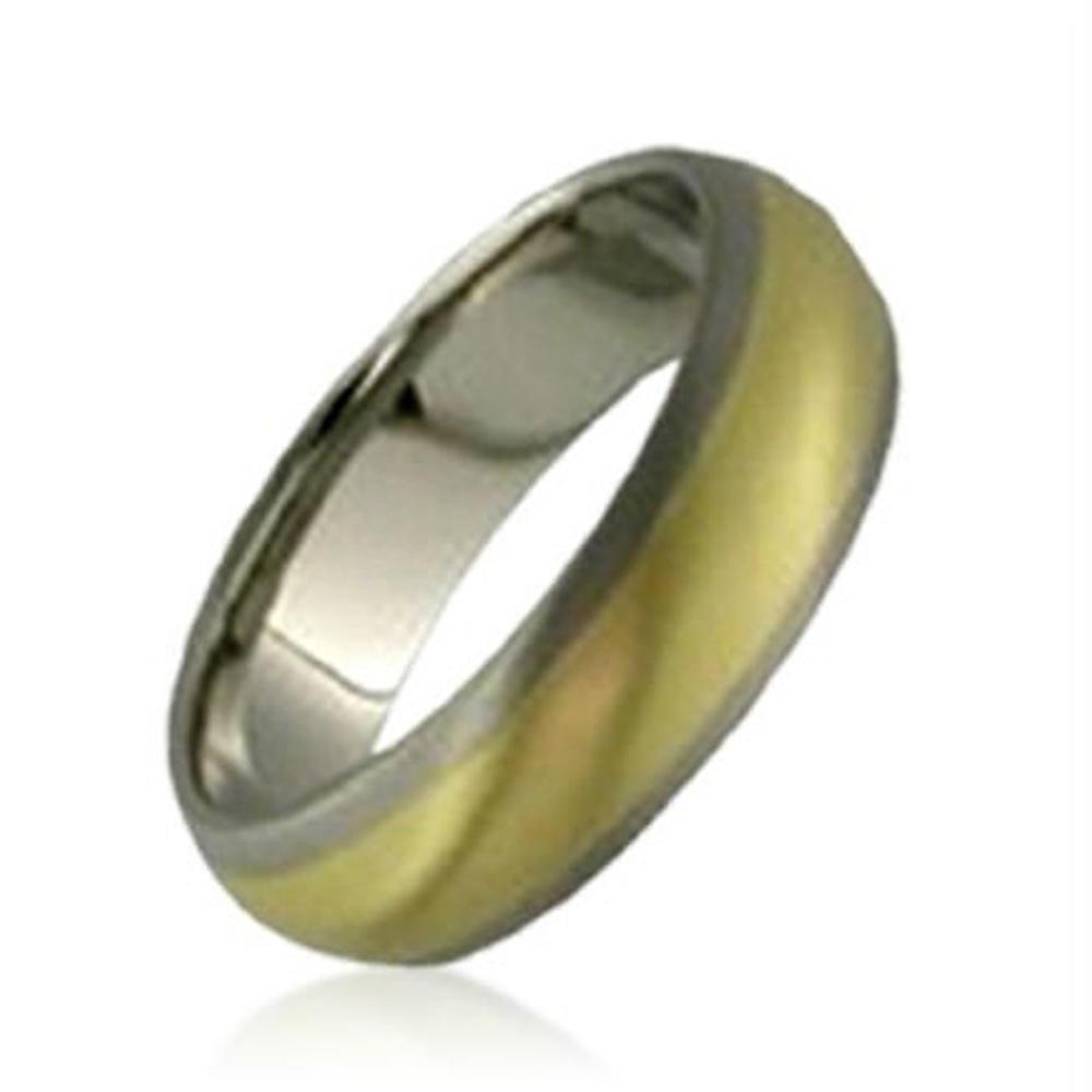 plain wedding band 24K gold plated titanium ring