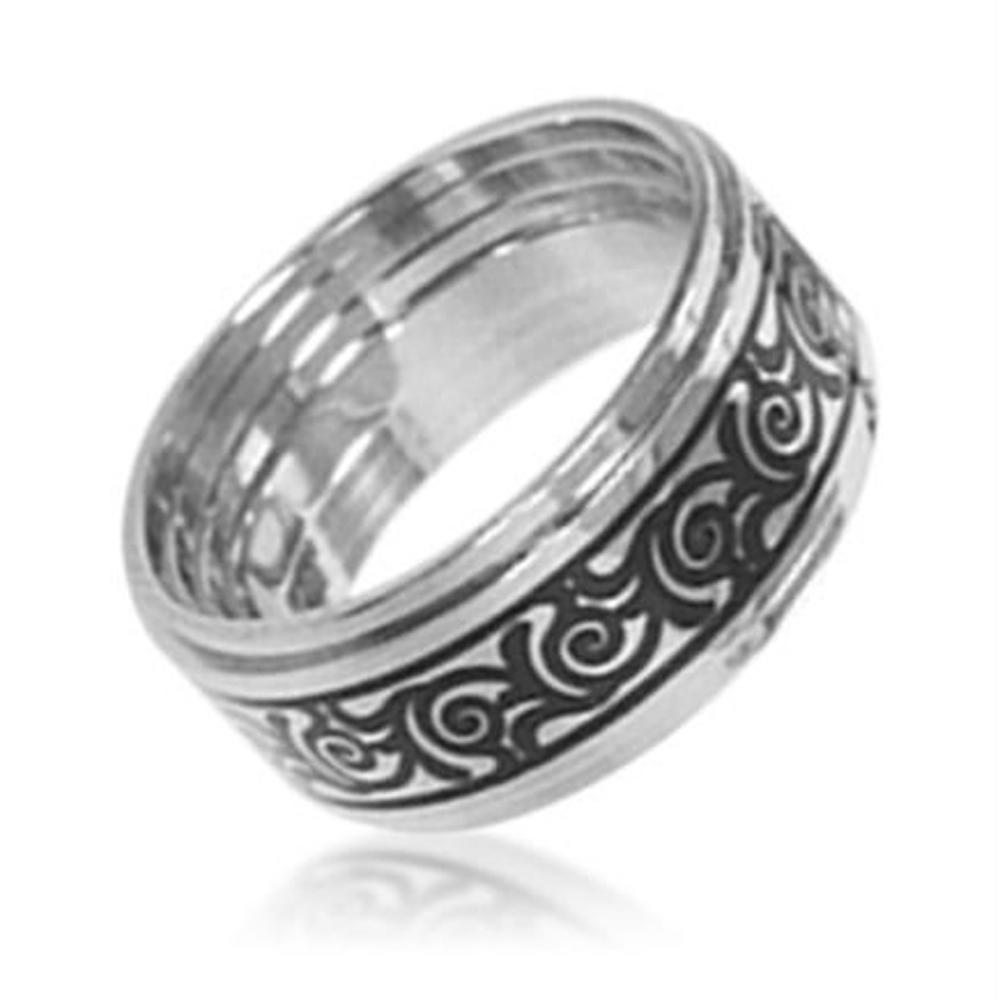 Flexible Wide Ring Laser Cut Sterling Silver Or Stainless Steel Jewelry