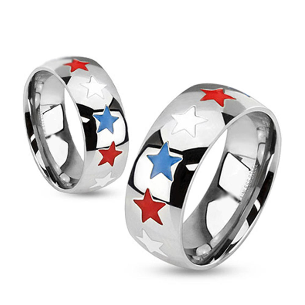 Stainless steel cheap simple silicone wedding ring