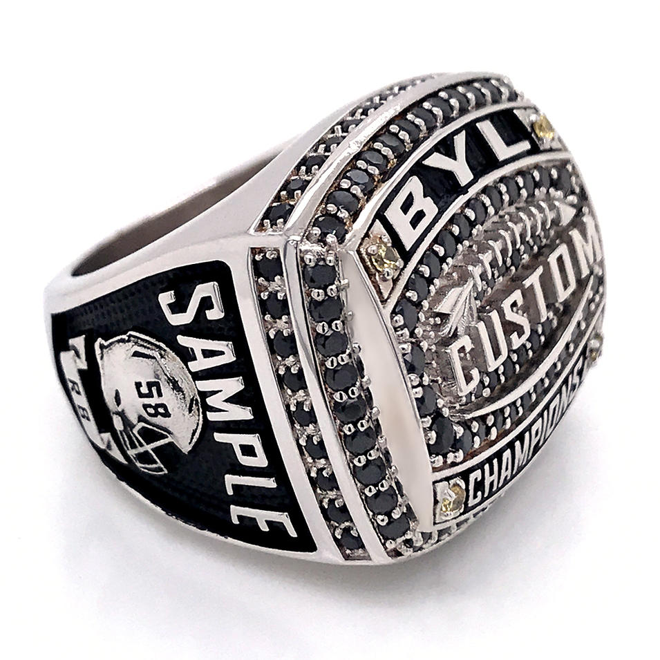Cheap Stainless Steel Championship Customized College Ring