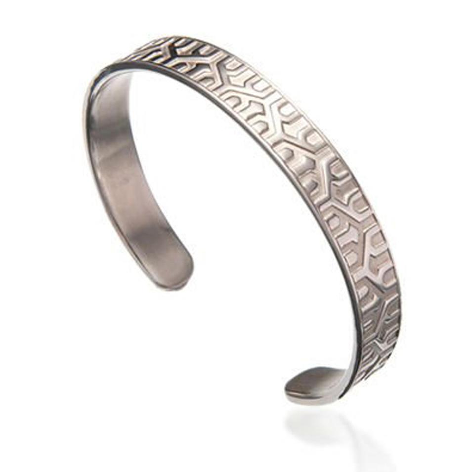 Neat Shiny Wholesale Stainless Steel Plain Cuff Bracelet
