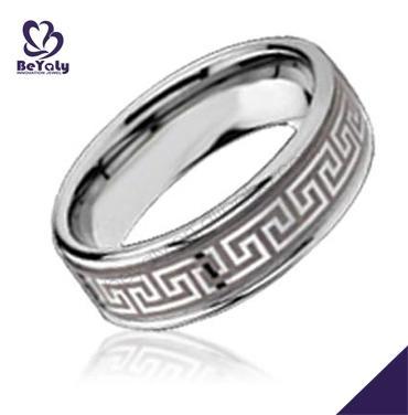Smart cheap engraved hebrew stainless steel spinner rings