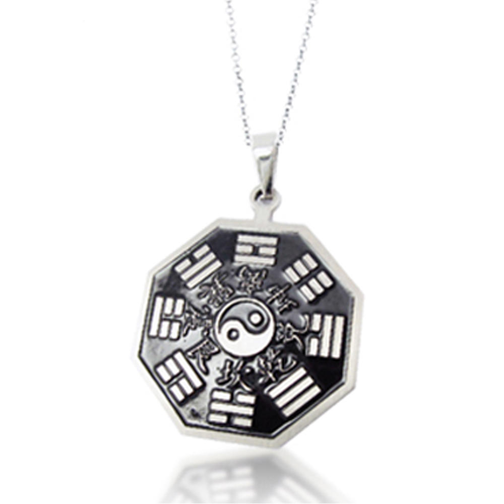 wholesale religious jewelry 316L stainless steel yin yang pendant