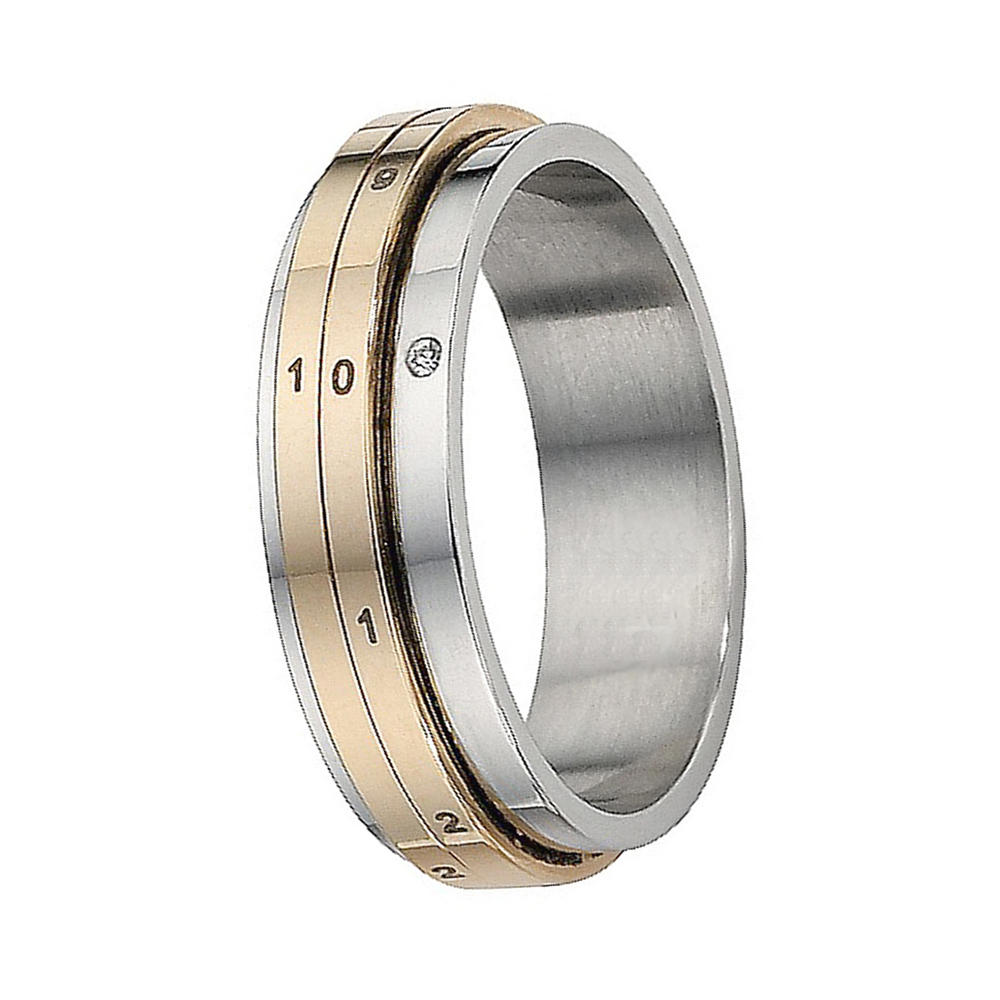 Cheap men's measuring rotatable cool stainless steel rings