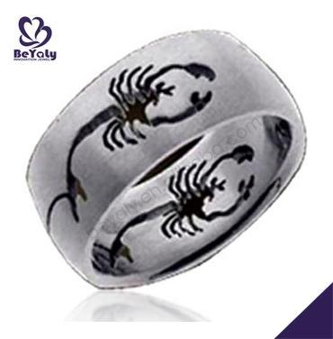 Black scorpion painting handmade how to remove a titanium ring