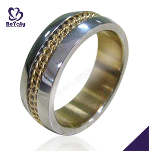 Best price gold tat band stainless steel matching rings
