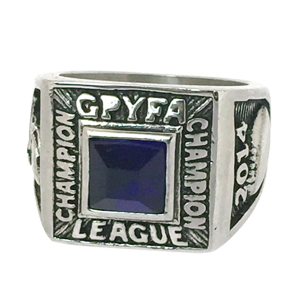 Smooth custom made titanium black tourmaline ring