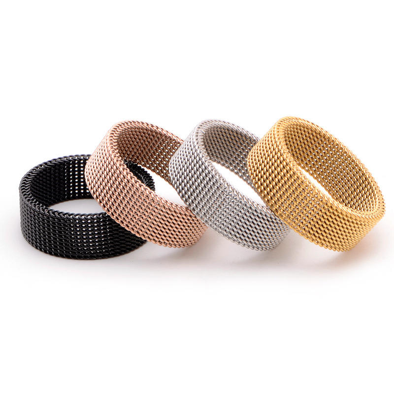 Fashion Popular Tat Braided 316L Surgical Stainless Steel Ring