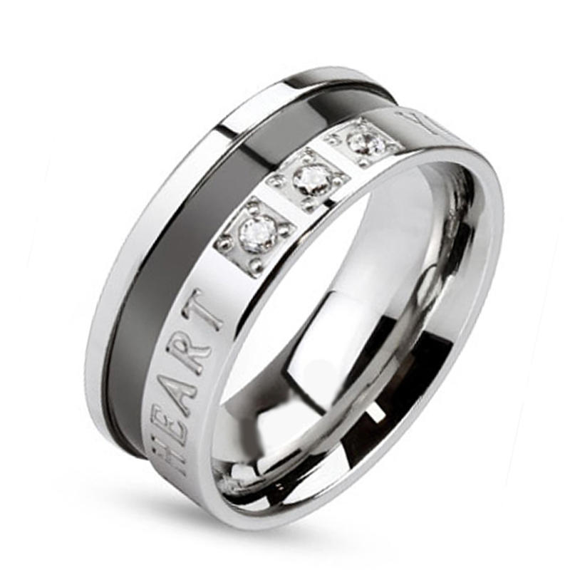 Best price fashion men 316l stainless steel amber ring