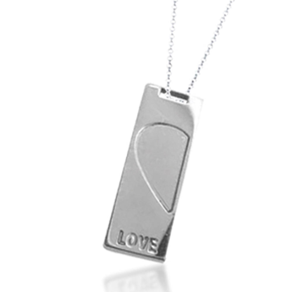 Rectangle Five Wave Design Black Painting Jewelry Stainless Steel Pendant
