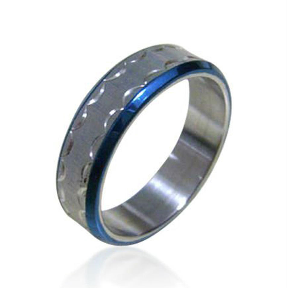 Simple design stainless steel thumb rings for men