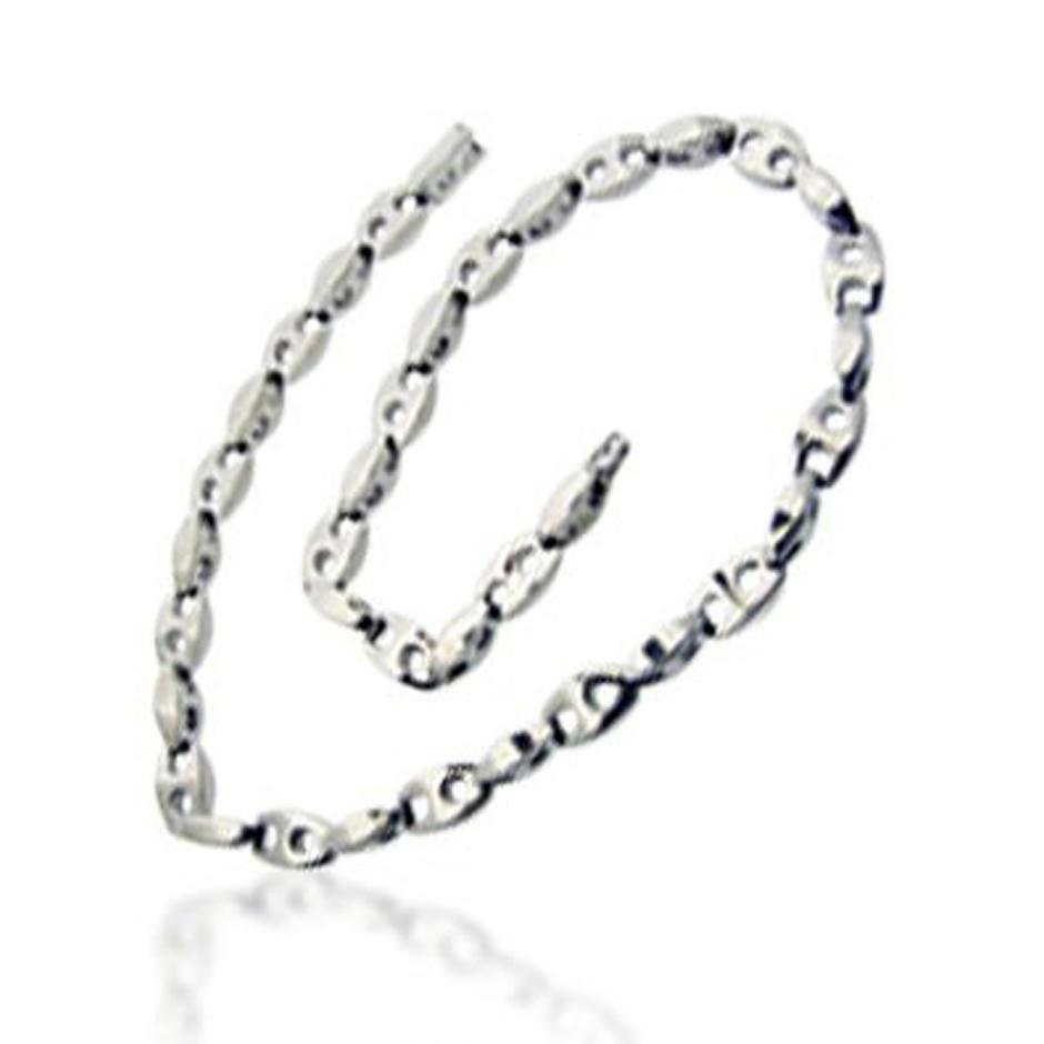 Chain shape shiny polish men titanium magnetic bracelet