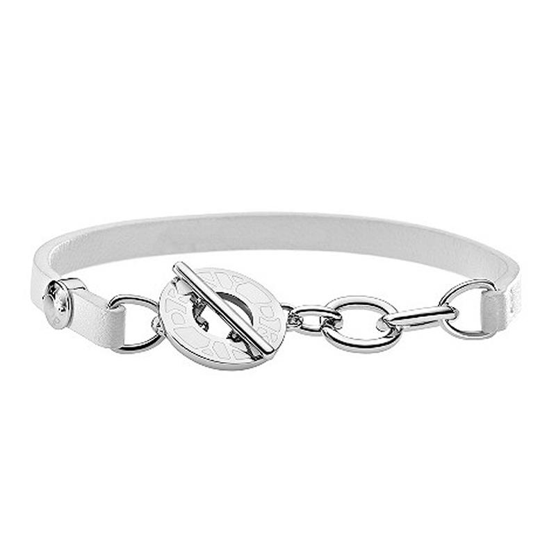 Make Your Own Stainless Steel Bracelet Leather Circle Chain Clasp Bracelet