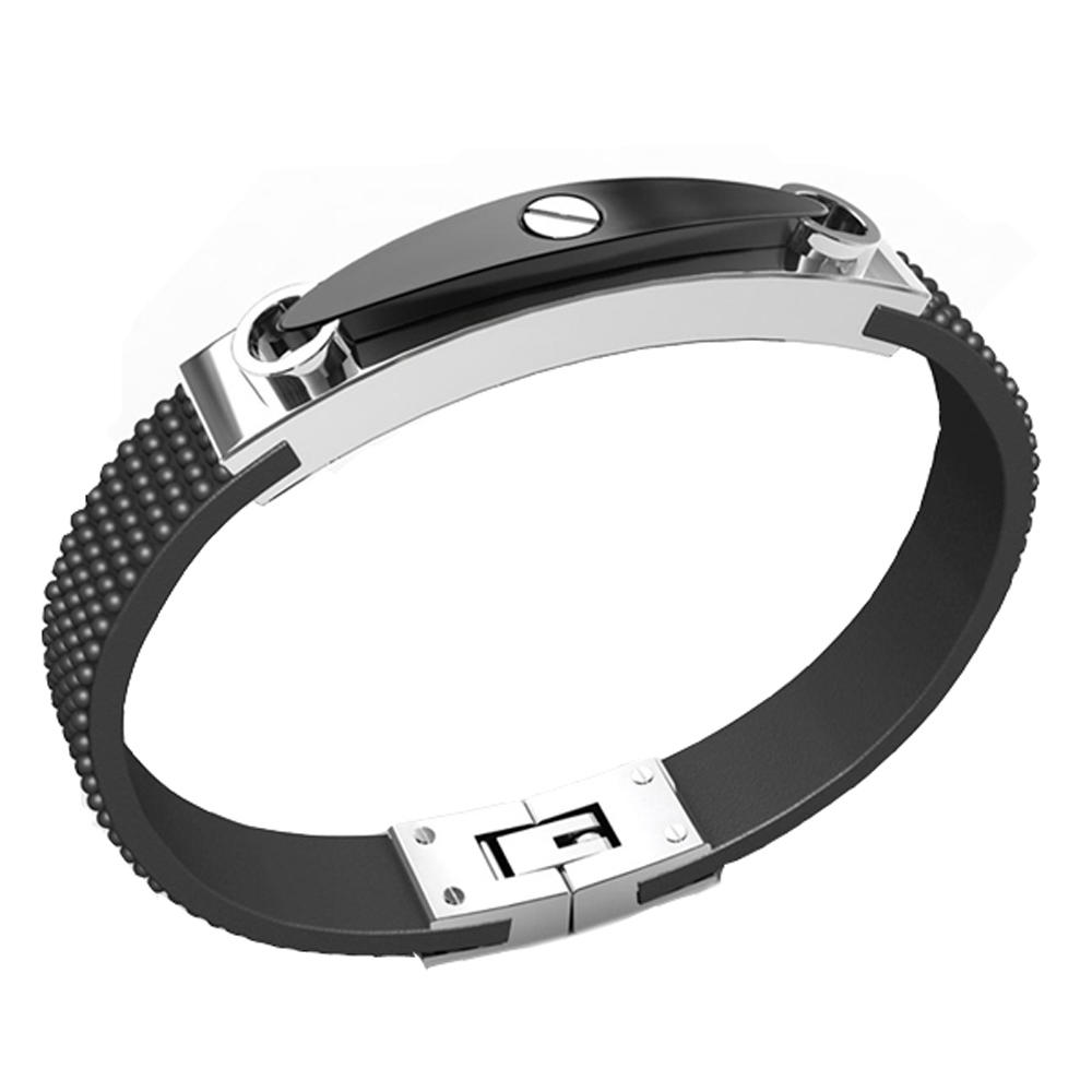 High end black leather china factory 316l stainless steel jewelry