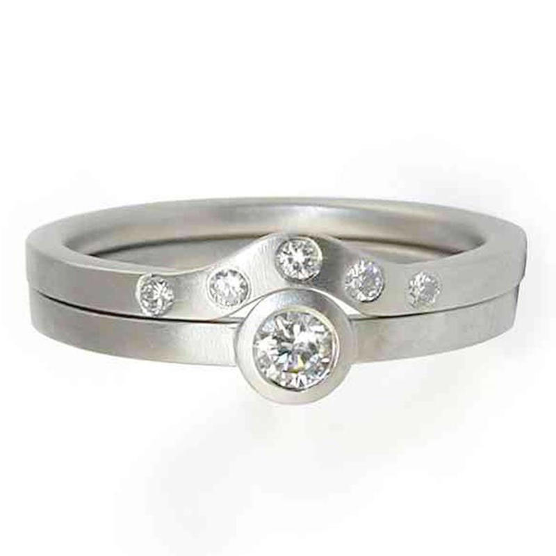 Fresh design engraved smart stainless steel stackable ring