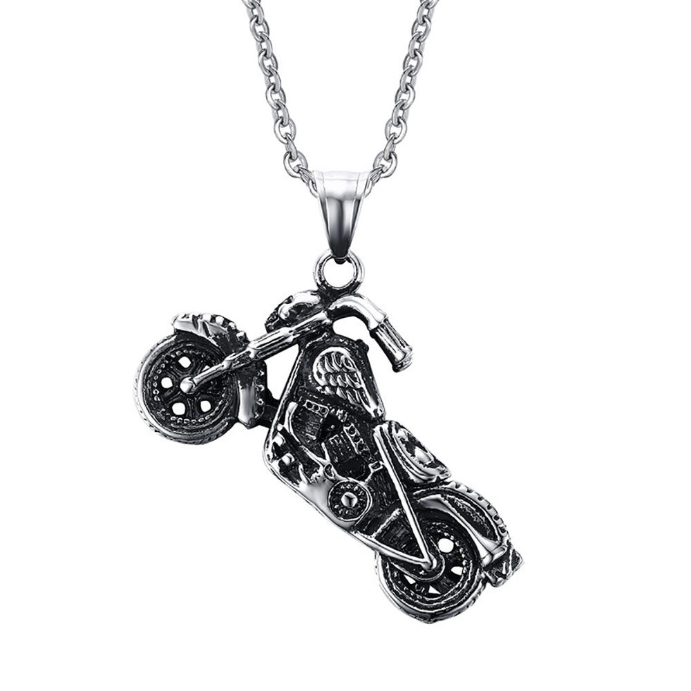 Unique Skull Jewelry Pendant Stainless Steel Motorcycle Charms Wholesale