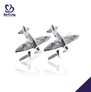 Delicate airplane design sterling silver cufflinks