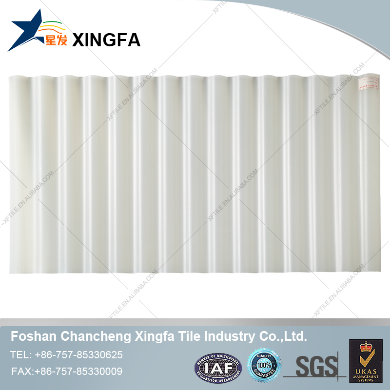 Semi-transparent PVC sky lightting roof tile
