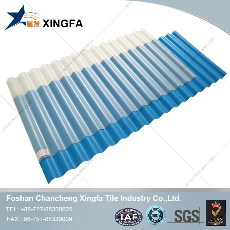 Xingfa transparent roof design plastic corrugated plastic tile roofing prices