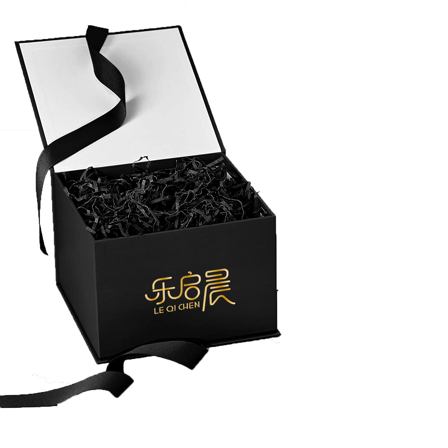 New designGift Box With Silk Ribbon,Jewel Paper Case With Custom Logo