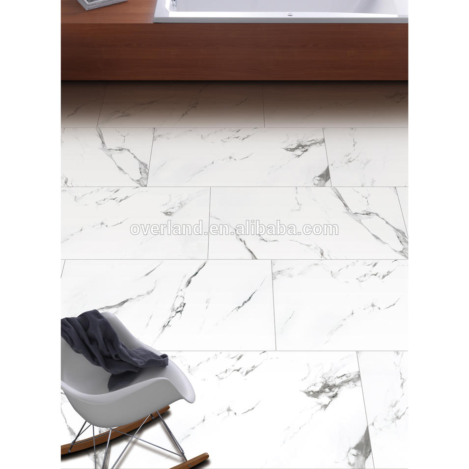 White ceramic carrara white tile