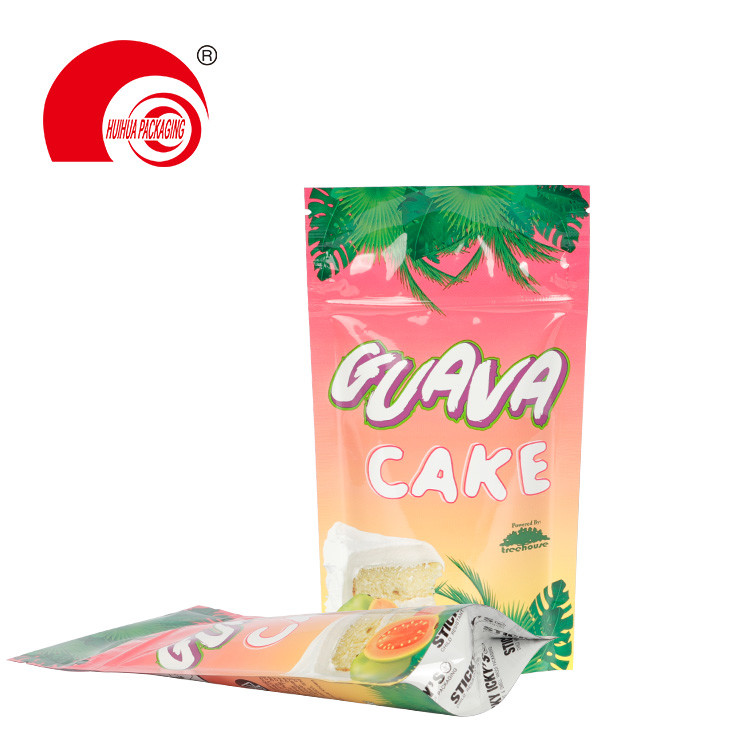 product-Huihua-Custom Zipper Stand Up Pouch Smell Proof Laminated Foil Child Resistant Cake Packagin