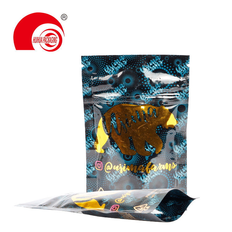 product-Huihua-Custom Printing Mylar Ziplock Bag Child Proof Pouch Child Resistant Bag Doypack-img