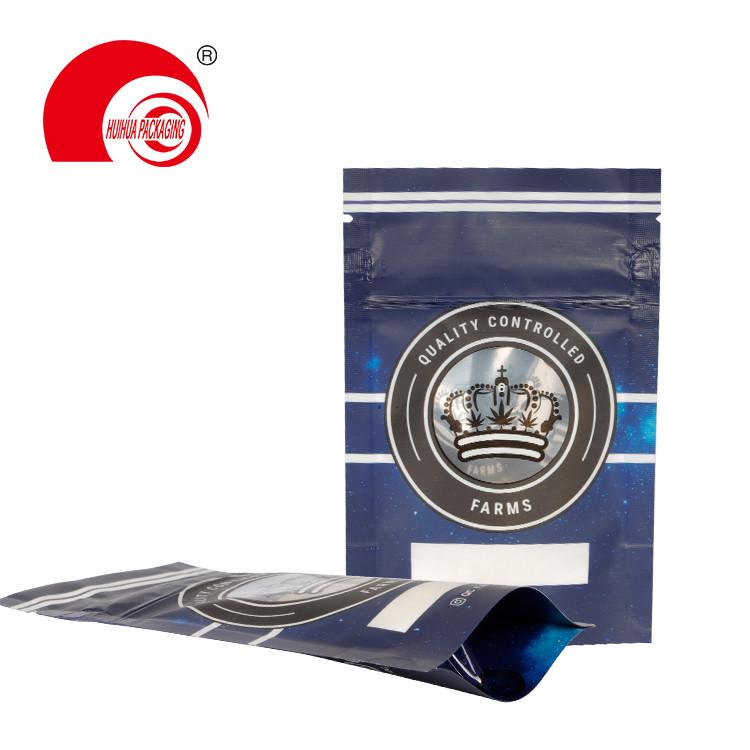 product-Huihua-custom printing food grade child resistant open double bone zipper pouch bag Child Pr