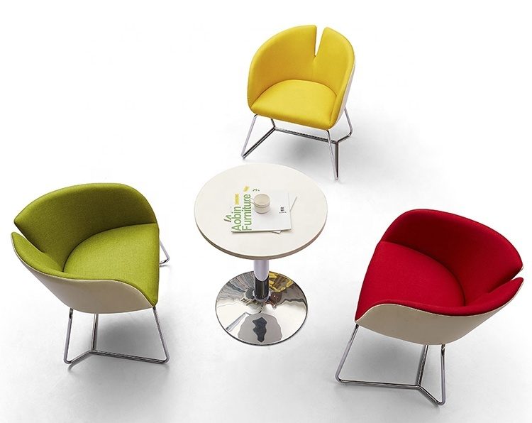 Customized Colorful Fabric Leisure Chair / Coffee Shop Chair