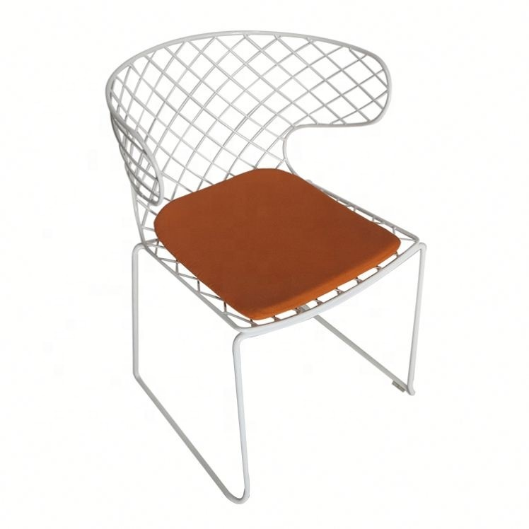 Classic dining sled base metal bertoia wire sled base chair