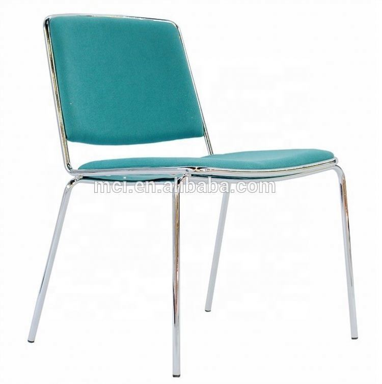 Promotion colorful stacking metal dinning chair for hotel or training
