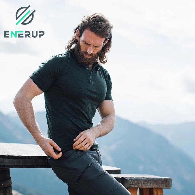 Enerup Custom Merino Wool Premium Unbranded Sweaters Athletic Work Racing Golf Slim Organic Cotton Mens topi Polo T Shirt