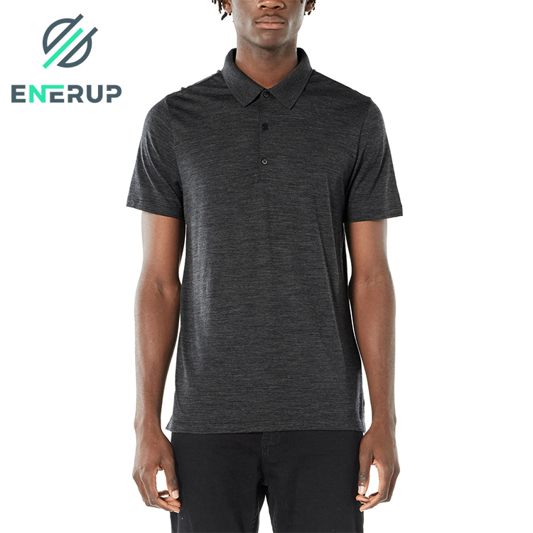 Enerup merino wool mens long sleeve t-shirt sweat suits rugby vestidos polo with customized logo
