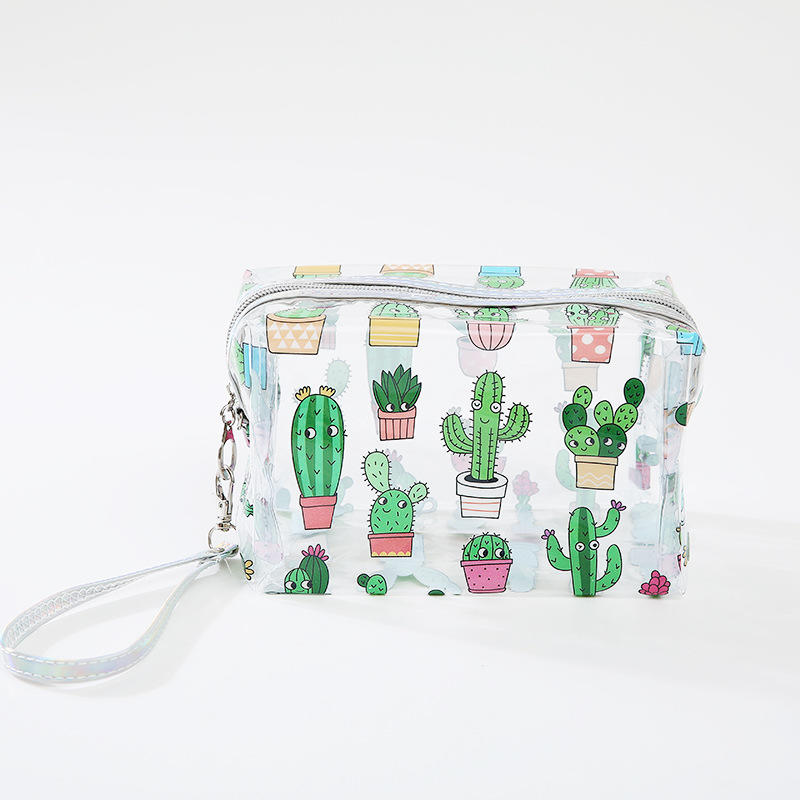 Transparent Cosmetics Bag PVC Travel Women Zipper Beauty Case Makeup Storage Bag cutePortable Waterproof Clear Toiletry Bags