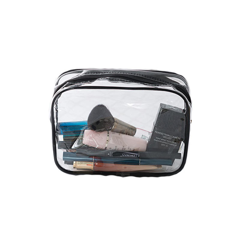 2020 Colorful Portable zipper PVC Transparent Cosmetic Bag Toiletry Wash Make Up Bag Pouch Travel Necessary Organizer Bag