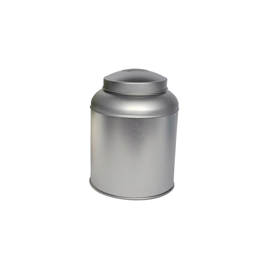 Stylish airtight tin box custom print round tea tin with dome lid tea tin packaging