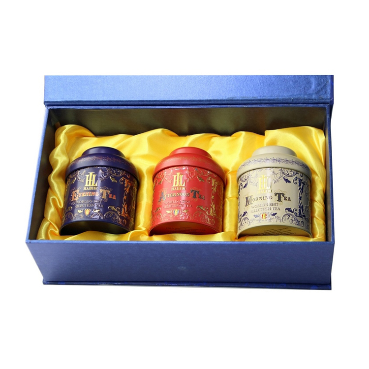 Luxury tin box set for tea metal packaging