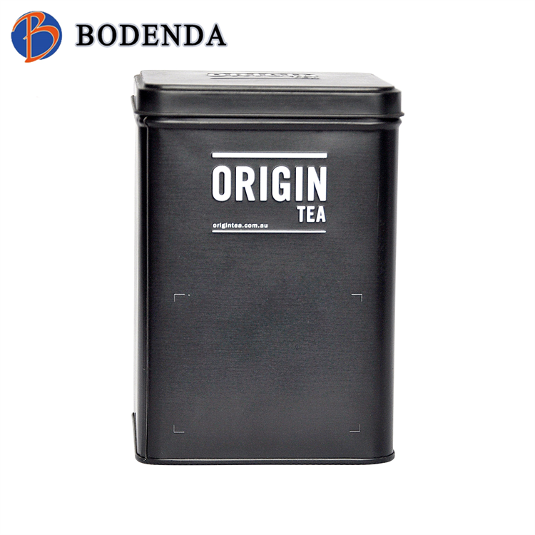 Simple but elegant chinese rectangle metal tea tin box
