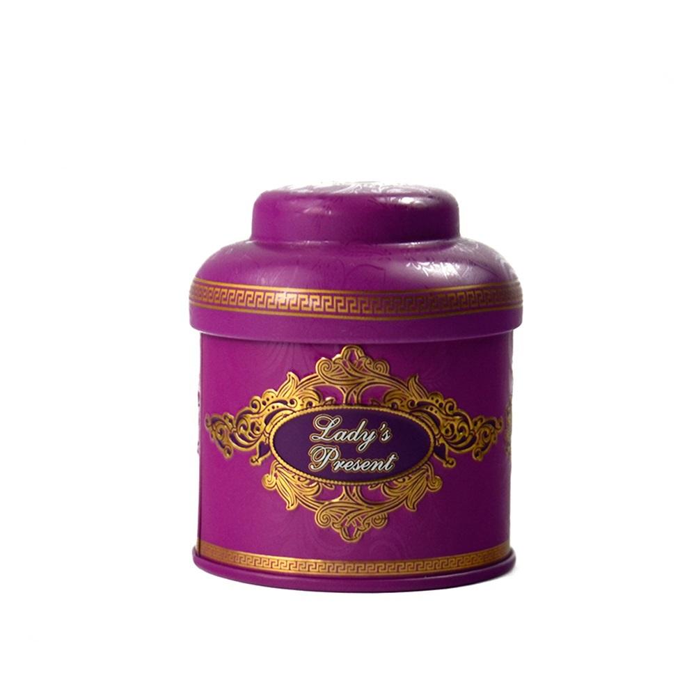 Wholesale Small Luxury Round Tea Packaging Tin Box Custom Metal Embossed Tin Box For Coffee Tea