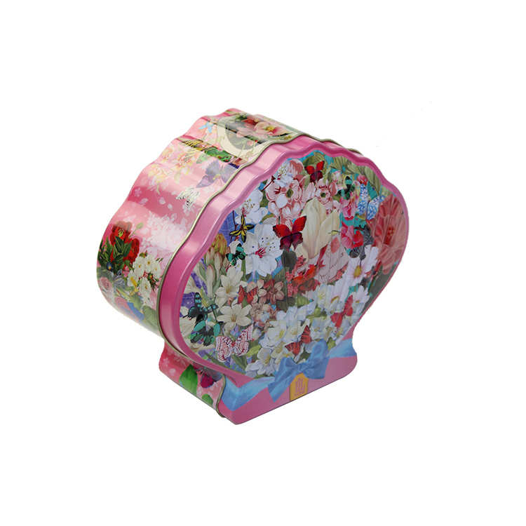 Shell shaped food gradeempty tin cans gift tea tin box for candy cookies