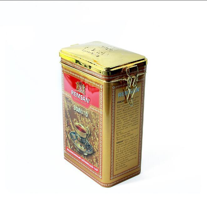 Wholesale Rectangularmetal tea storage tins can coffee tin with Wire Clasp Manufacture