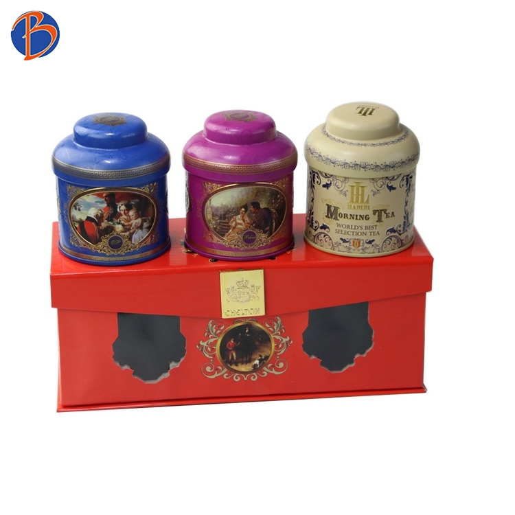 Bodenda big round Chinese tin can tea