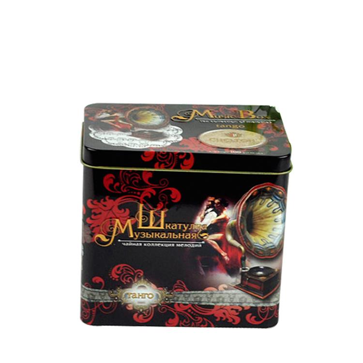 Wholesale rectangular tea tin giftbox with music device