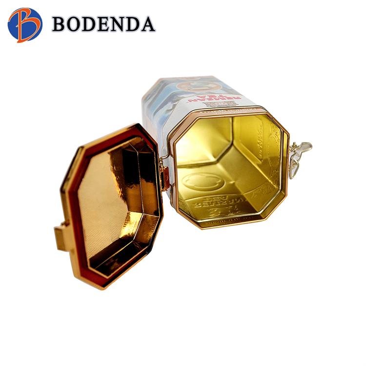 Promotional octagonal tea tin box