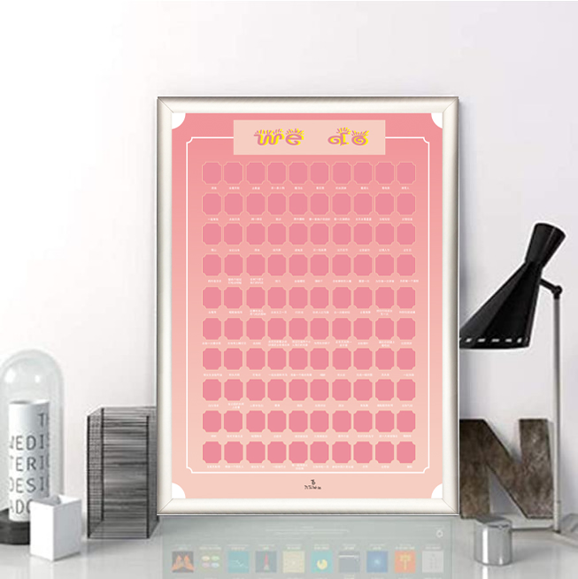 Custom 100 Things To Do For Well Being Special Gifts For Couples 100 Scratch Well Being Posters
