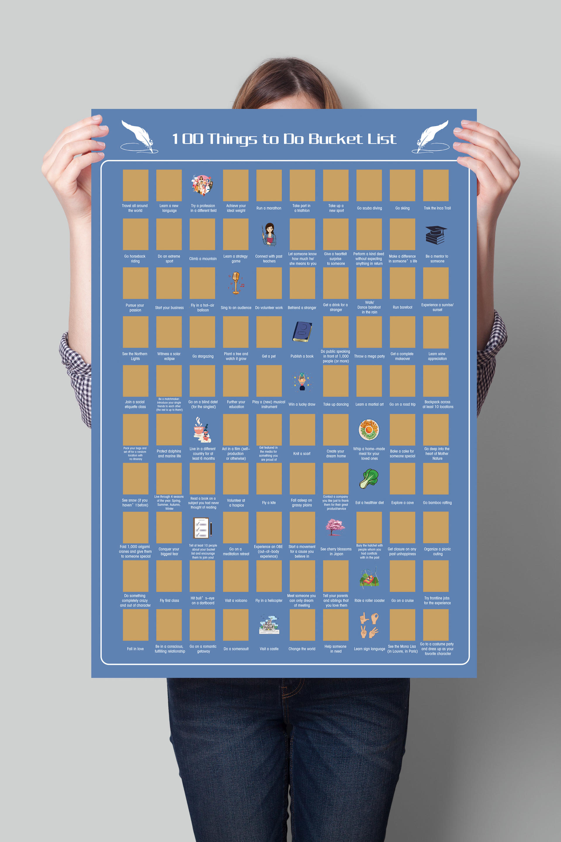 product-100 Things To Do Scratch Off Bucket List Motivational Posters For You-Dezheng-img-2