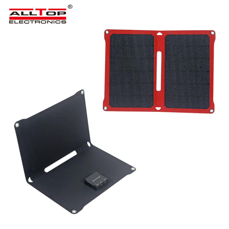 ALLTOP China factory direct sell 14w 6V folding foldable solar cell solar panel
